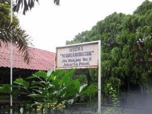 Plang nama Wisma Marganingsih