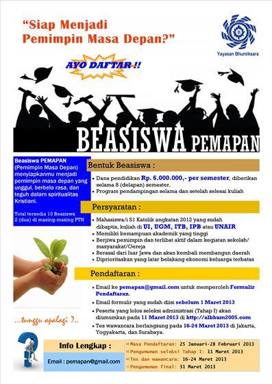 beasiswa Pemapan Bhumiksara poster