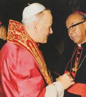 Kardinal Justinus Darmojuwono Pr dan Yohannes Paulus II