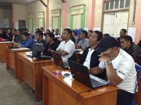 Ende pelatihan jurnalistik peserta