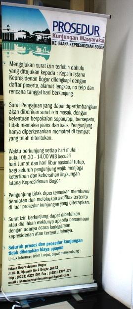Istana Bogor prosedur perizinan