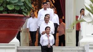 kabinet jokowi berpakaian putih