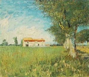 the farm house by van gogh
