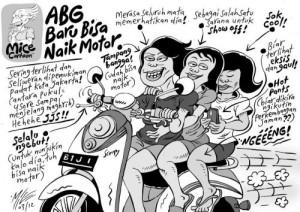 abg naik motor by Mince