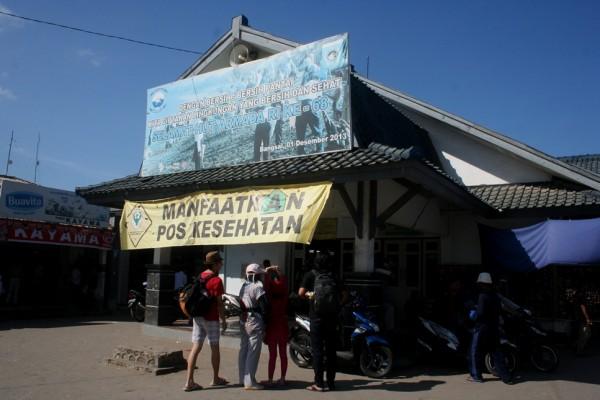 Pos penjualan tiket Pelabuhan Bangsal Lombok