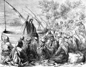 yesus mengajar dari perahu by ist