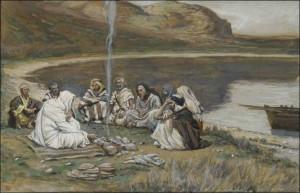 yesus makan bersama para murid by tissot