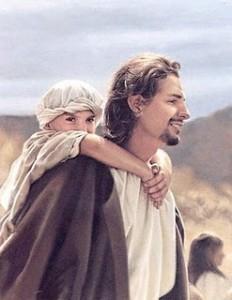 yesus menggendong anak