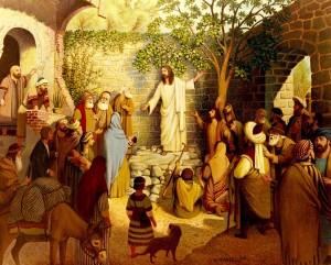 JESUS TEACHING THE PEOPLE