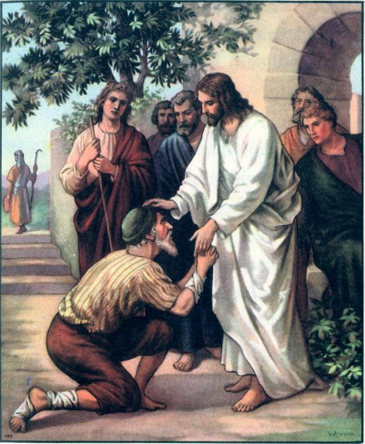 Jesus Heals a Man With Leprosy