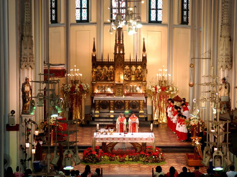Gereja katedral Jakarta misa 1