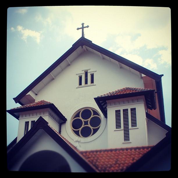 Gereja Muntilan tembok atas depan