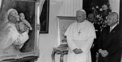 Presiden Suharto dan Paus Yohannes Paulus II