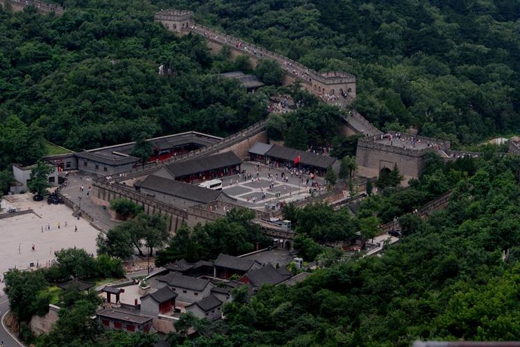 Tembok Besar China dari bawah lapangan parkir email ok
