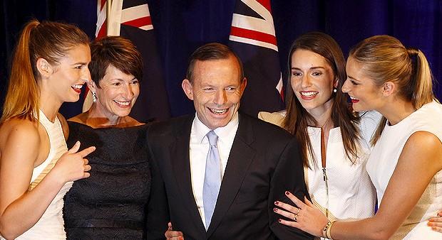 Tony Abbott family front