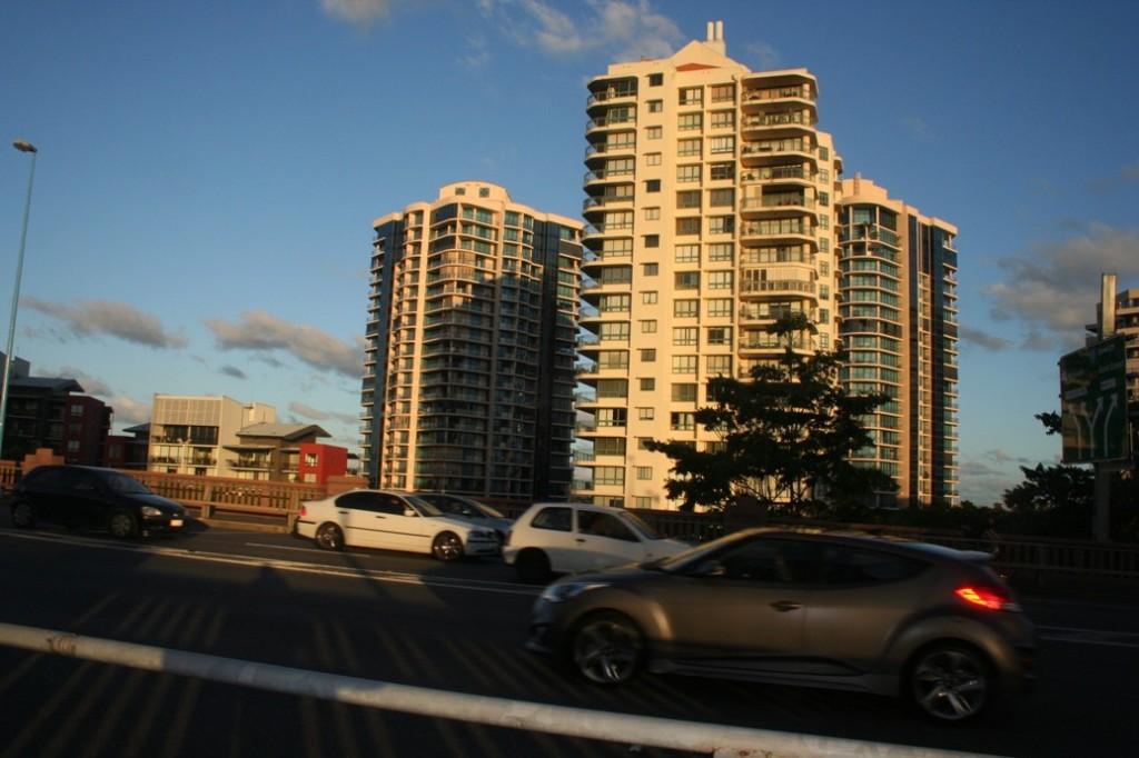 Brisbane gedung dan mobil