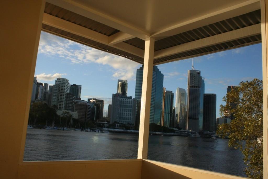Brisbane south bank gedung di balik rumah