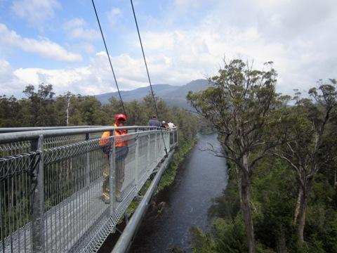 Tahune Forest AirWalk ujung jembatan 2 ok