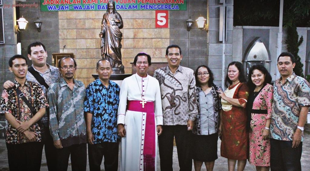 Mgr Nico 25th bersama umat Tegal