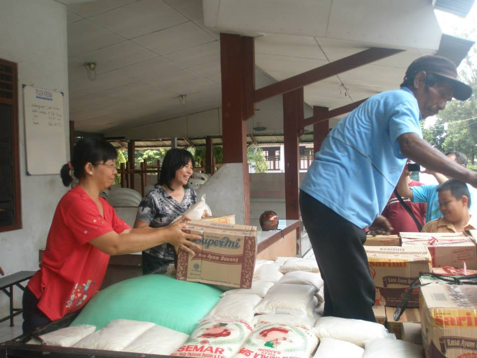 St Luke Crisis Center of the Pemalang Parish Church to help flood victims