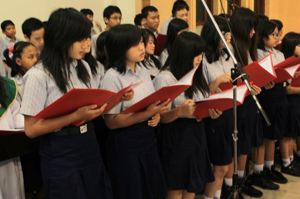 Tegal SMP Pius koor