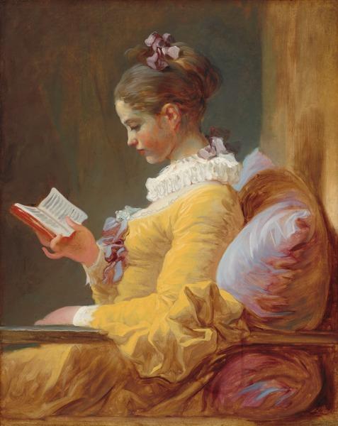 Wanita Pembaca by Fragonard The Reader