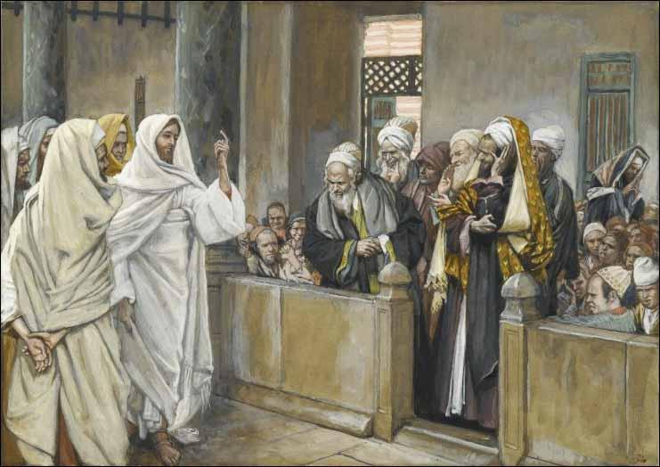 Yesus dan orang farisi by Tissot
