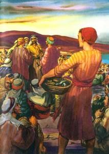 Yesus memberi makan banyak orang