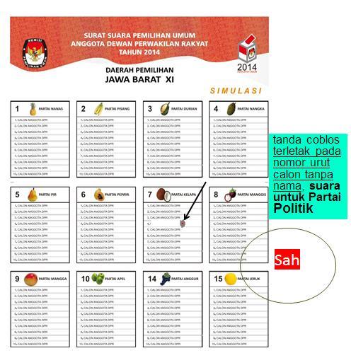 Pemilu suara sah 11