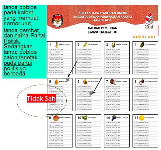 Pemilu suara sah 16