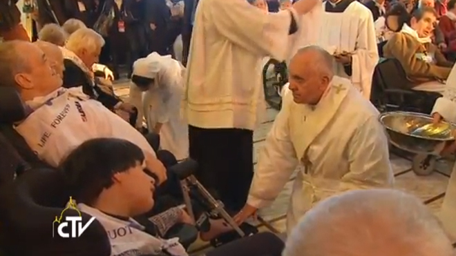 Pope Francis Elderly Disabled by CTV