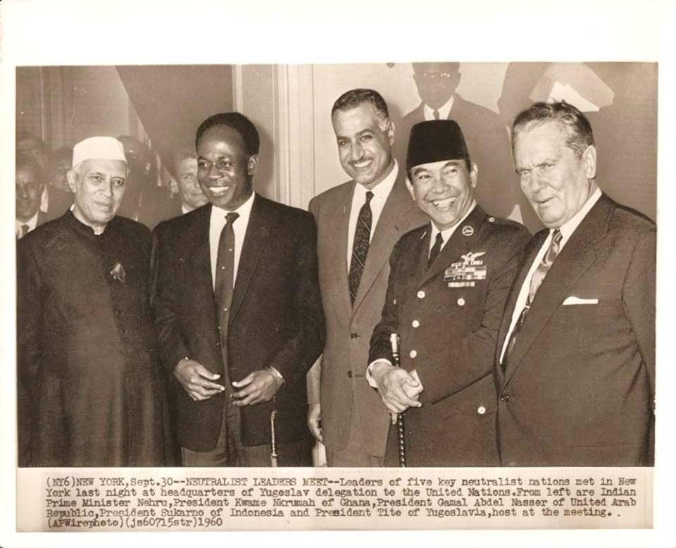 Presiden Sukarno dan para pemimpin Gerakan Non Blok