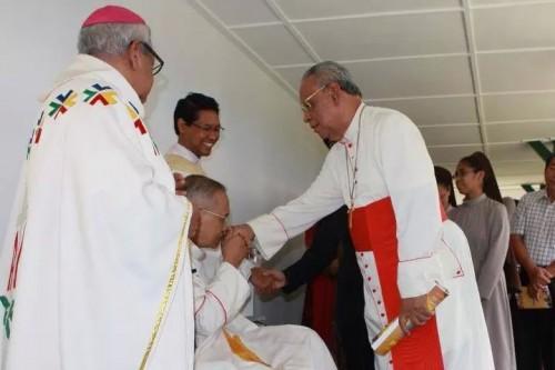 Mgr Karta Mgr Blasius Pudjaraharjo dan Kardinal