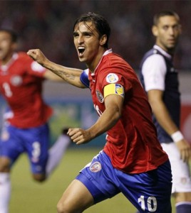 Bryan Ruiz, pemain bola asal Kosta Rica/ Foto : NYdailynews