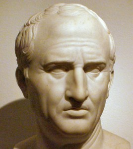 Patung muka Marcus Cicero