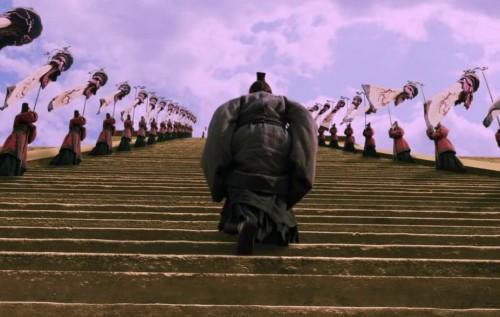 confucius naik tangga