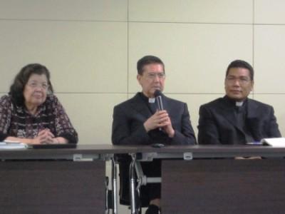 Atma Jaya Dean Prof Lanny Panjaitan Fr. Guixot and Fr. Markus Solo