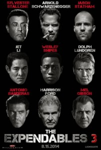 The Expendables 3 Poster Cast