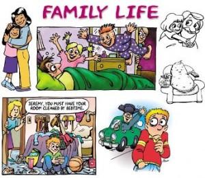 keluarga by cartoon works