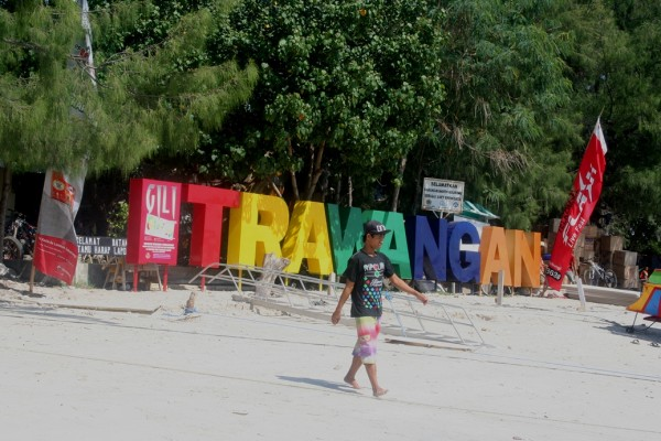Gili Trawangan Lombok sign post