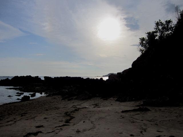 Pantai Kuta menjelang sunset