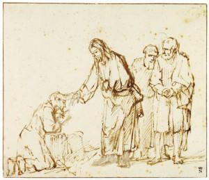 yesus dan orang kusta by rembrandt ist