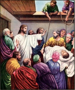 Healing of the Paralytic Man Mark 2:1-5