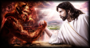 jesus and devil