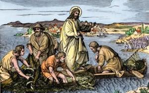 Jesus_at_Galilee_lake by st gerard