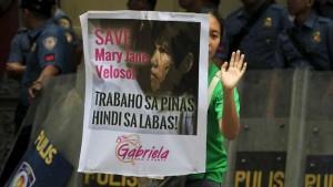 Mary Jane Fiesta Veloso protest in Jakarta
