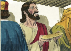 jesus makes bread