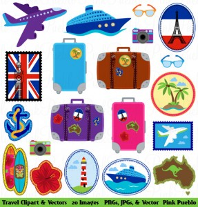 travel by clipart