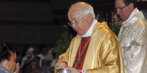 In this March 15, 2013, Archbishop Josef Wesolowski, papal nuncio for the Dominican Republic, leads a Mass in Santo Domingo, Dominican Republic. Authorities in the Dominican Republic will look into allegations of child sex abuse against Wesolowski, following his abrupt removal from his post by the Vatican, Attorney General Francisco Dominguez Brito said Wednesday, Sept. 4, 2013, noting that his office is aware only of rumors and has not received any accusations. (AP Photo/Manuel Diaz)