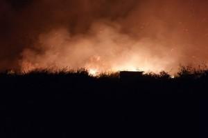 Kebakaran Lahan di Malam Hari